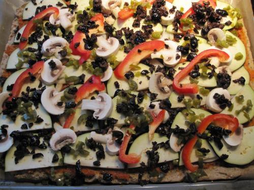 Vegansk, glutenfri pizza